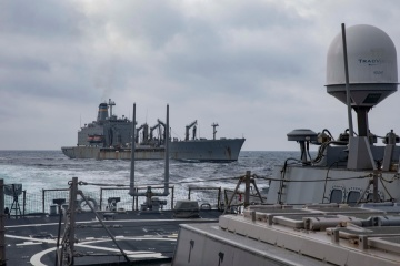 Ukrainian Navy holds joint exercises with U.S. ships in Black Sea