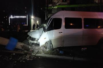 In Saporischschja Verkehrsunfall mit 14 Verletzten