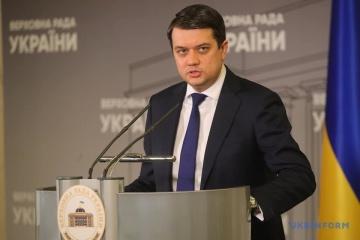 Razumkov, ambassadors of Nordic, Baltic countries discuss cooperation, reforms in Ukraine