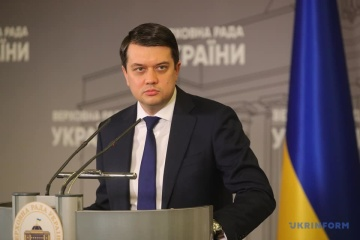 Razumkov signs law that brings integration of Ukraine's energy system into EU market