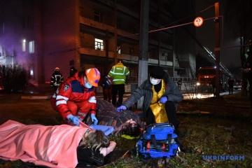 El incendio del hospital de Zaporiyia se cobra la vida de cuatro personas