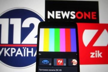 親露テレビ3局への制裁、49%が支持