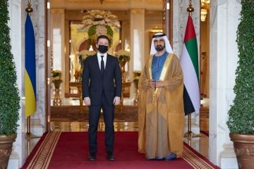 ゼレンシキー大統領、UAE首相と会談