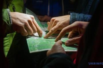 Bergretter suchen verirrten Touristen in Transkarpatien