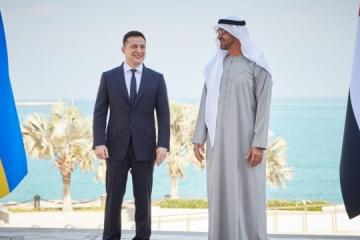"""Wizyta Zełenskiego w Zjednoczonych Emiratach Arabskich """"na Bankowej"""" została uznana za jedną z najbardziej udanych"""