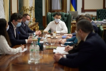 Zelensky meets with representatives of Ukrainian delegation to PACE