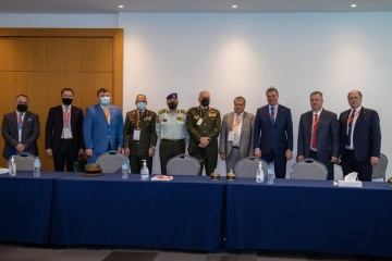 Urusky meets representatives of UAE, Jordan, Brazil at IDEX 2021 exhibition