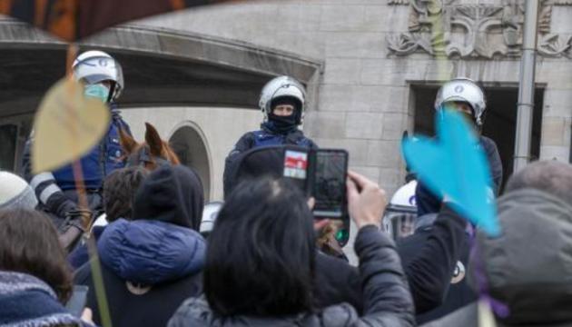 Антикарантинные протесты в Брюсселе: около 300 задержанных