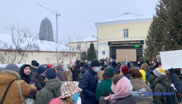 Під ОАСК пройшла акція на підтримку нового українського правопису