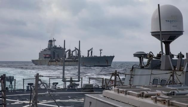 La Armada de Ucrania realiza ejercicios conjuntos con barcos estadounidenses en el Mar Negro