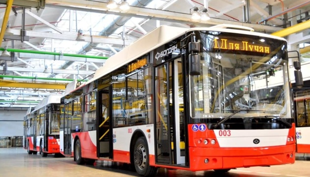 В Луцке на этой неделе выйдут на маршрут четыре новых троллейбуса