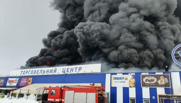 Во время пожара в «Эпицентре» на Николаевщине пострадали четверо работников