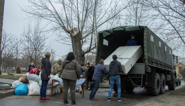 Постраждалі від осінніх пожеж на Луганщині отримали 150 тонн гумдопомоги