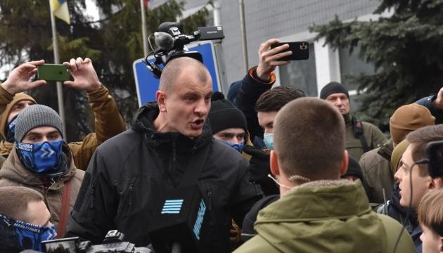 Чотирьох учасників акції під телеканалом «НАШ» забрала поліція