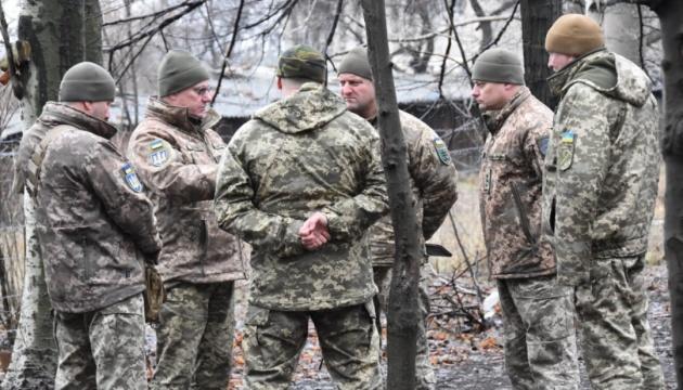 Хомчак посетил зону ООС и проверил готовность бойцов на передовой