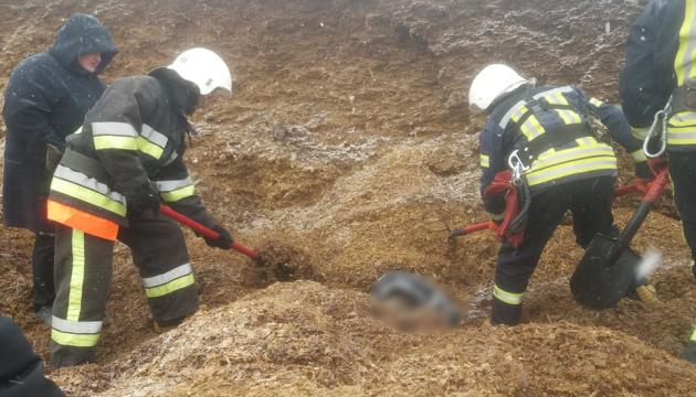 На Хмельниччині під завалом силосу загинув чоловік і двоє травмувалися