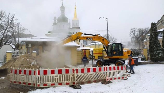 Частина центру Києва - без гарячої води і тепла через аварію