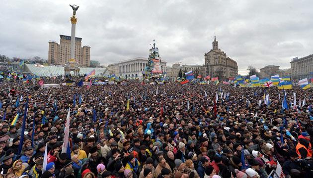 Революция Достоинства: на Майдане прошло многолюдное десятое Вече