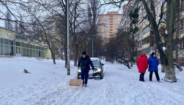 ウクライナ全土で大雪