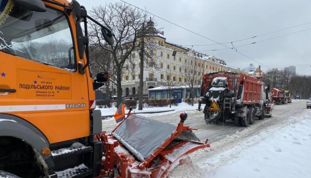 За добу з Києва вивезли майже 14 тисяч тонн снігу