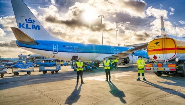 KLM виконала перший авіарейс на частково синтетичному паливі