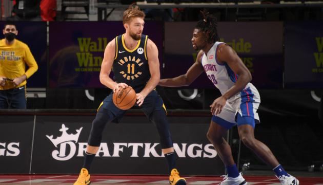 НБА: «Детройт» Михайлюка зазнав поразки від «Індіани»