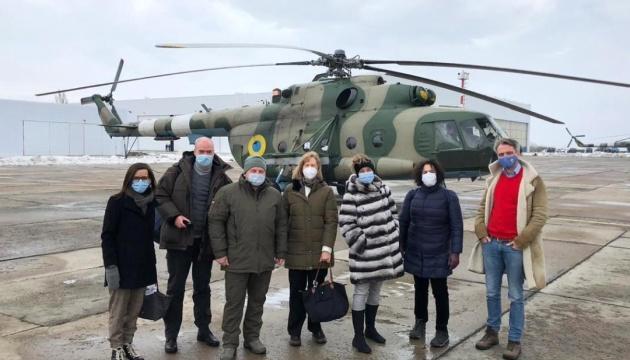 Ambassadors who visited Donbas with Zelensky share impressions on social media