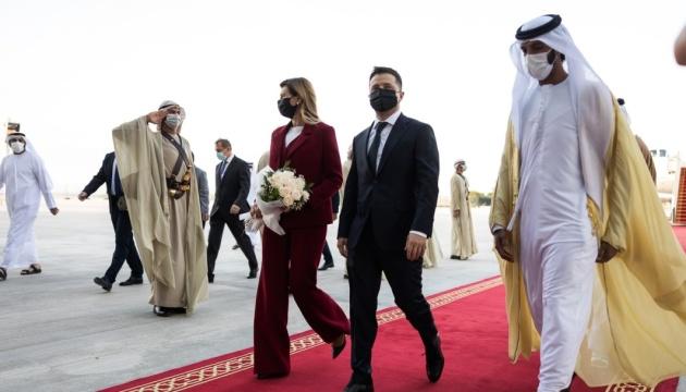 Зеленський з дружиною прибули з візитом до ОАЕ