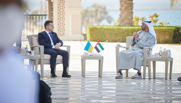 Selenskyj bespricht mit dem Kronprinzen von Abu Dhabi Erhöhung des Warenumsatzes