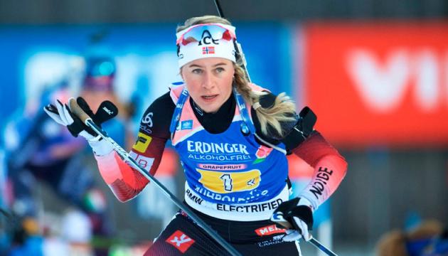 Норвежка Экхофф выиграла вторую гонку на чемпионате мира по биатлону, Пидгрушная - седьмая