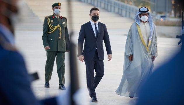 Еміратські ЗМІ розкрили деталі візиту Зеленського до ОАЕ