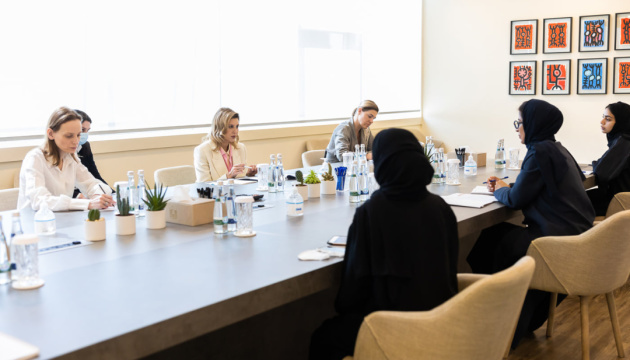 Ukraine's First Lady, UAE's Minister discuss culture cooperation