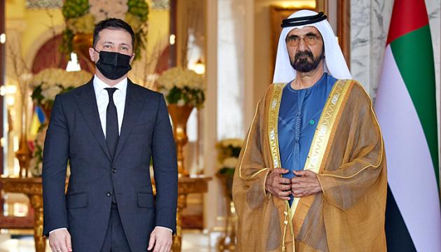 El presidente de Ucrania se reúne con el primer ministro de los Emiratos Árabes Unidos