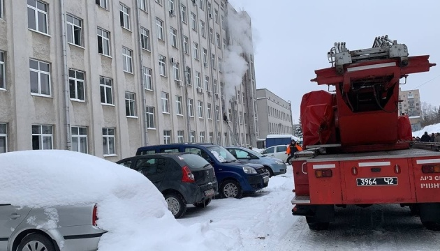 В Ривне произошел пожар в здании ОГА