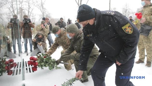 Trauerfeier für zwei gefallene Soldaten in Krementschuk