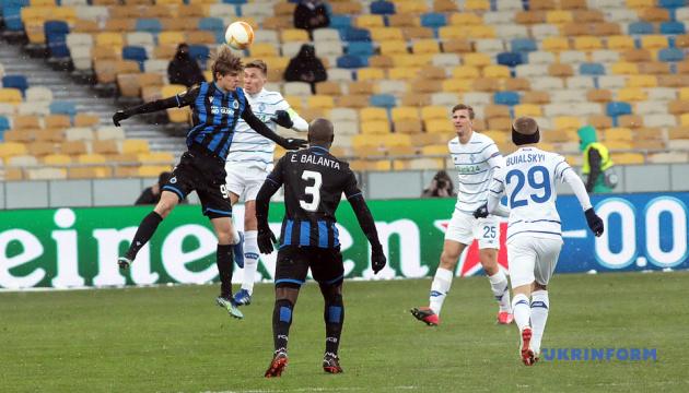 «Динамо» сыграло вничью с «Брюгге» в матче 1/16 финала Лиги Европы УЕФА