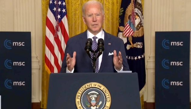 Biden urges Europe to stand up for Ukraine's sovereignty and territorial integrity