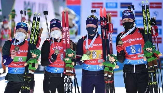 Українки здобули «бронзу» в естафеті чемпіонату світу з біатлону