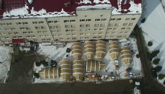 Мобильный COVID-госпиталь на Прикарпатье готовится к приему больных