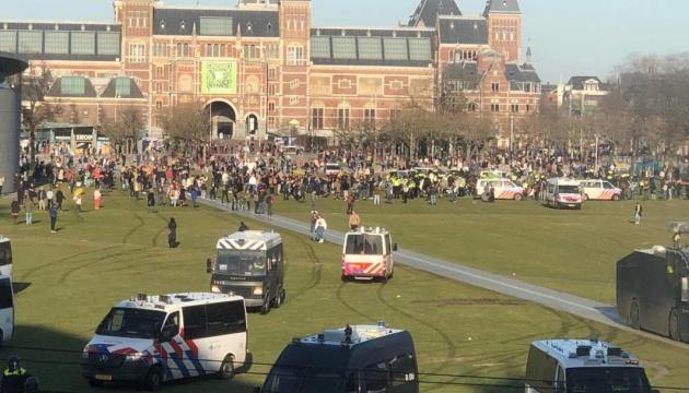 У Нідерландах знову пройшли «карантинні» протести