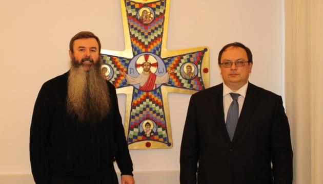 Український посол привітав нового душпастира українців на Кіпрі з призначенням