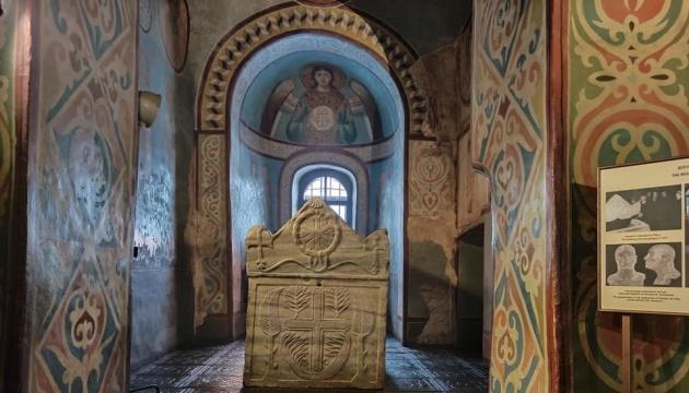 ソフィア大聖堂でキーウ・ルーシ期のインギゲルダ大公妃を祝福