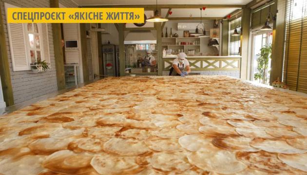 В Ужгороді побили рекорд України із приготування найбільшого млинця
