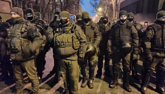 Возле Офиса Президента усилили меры безопасности