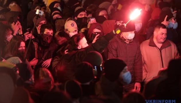 Акція на Банковій: у поліції немає інформації про постраждалих протестувальників