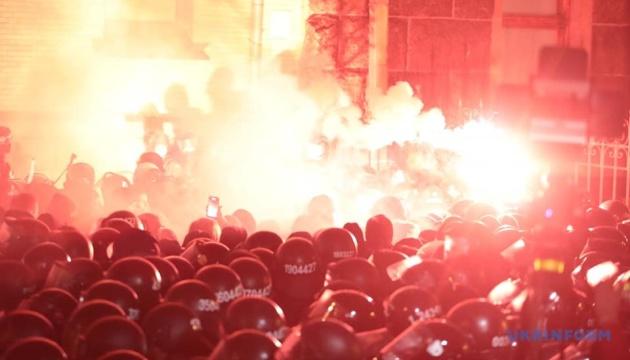 На акции против заключения Стерненко под ОП задержали 17 активистов