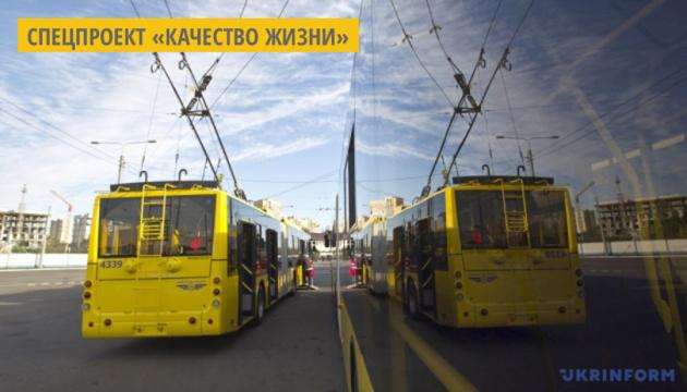В новом троллейбусе