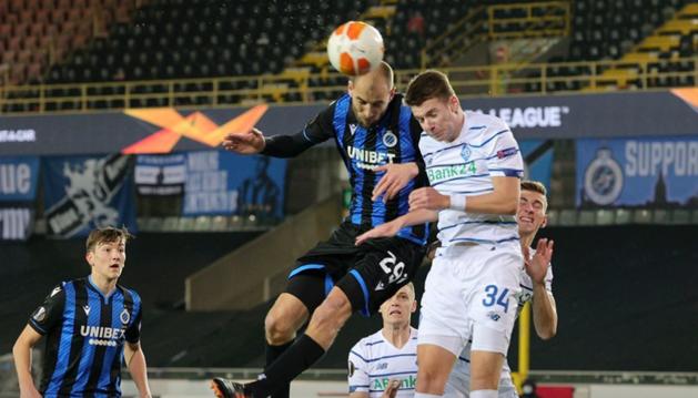 «Динамо» победило «Брюгге» в 1/16 финала Лиги Европы УЕФА