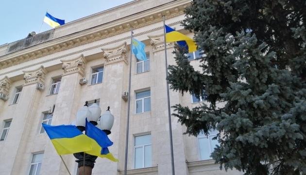 У Херсоні урочисто підняли кримськотатарський прапор
