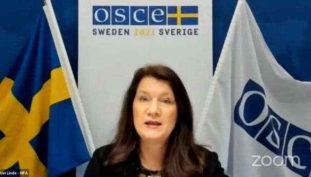 La presidenta en ejercicio de la OSCE recuerda que Crimea es Ucrania
